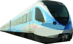 Dubai Metro - train carriage 2